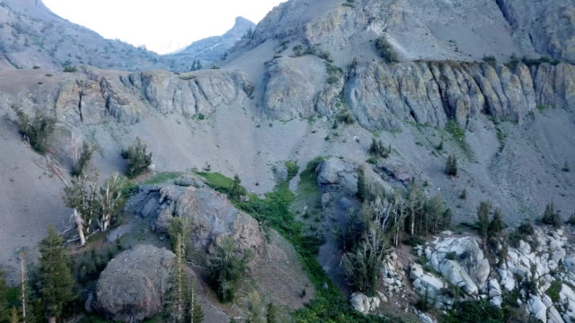 Slate-Grey Mountain Pass in California Wilderness video