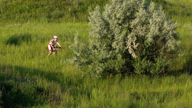Sled Dog Sport Races with Siberian Husky and bikejoring
