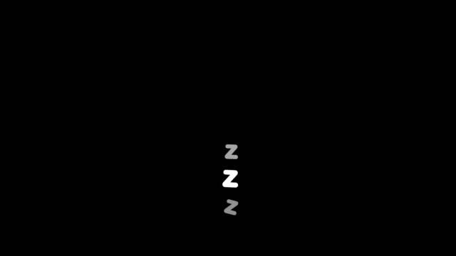 animacja spania. - drzemać filmów i materiałów b-roll