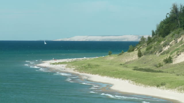 sleeping bear dunes - lakeshore stock videos & royalty-free footage