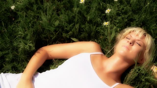 HD: Sleeping Like An Angel In A Meadow video