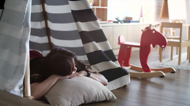 Sleeping woman at Playroom