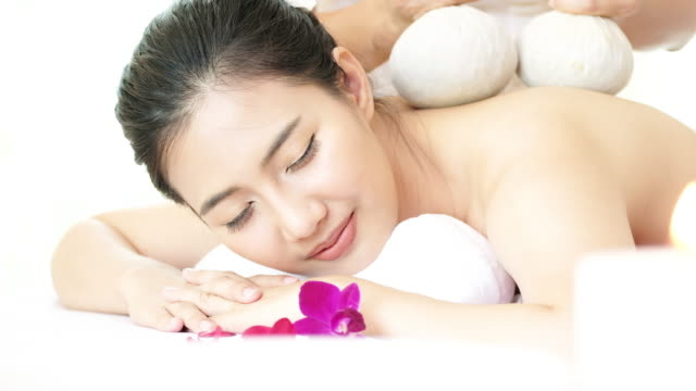 Sleeping Woman Relaxing With Spa. video