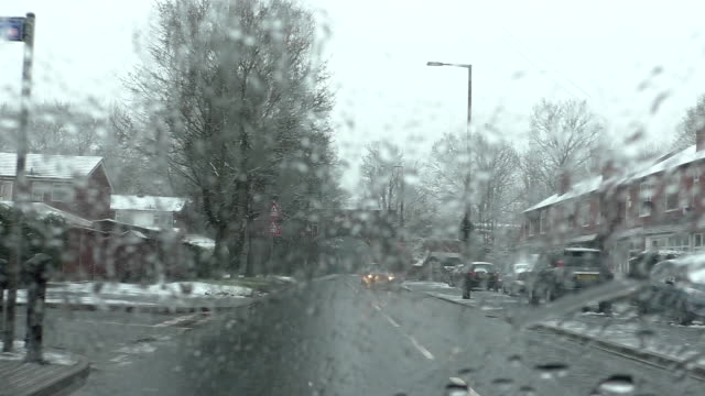 Sleeting, bad driving conditions in winter video