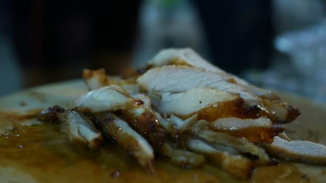 slice grilled pork video
