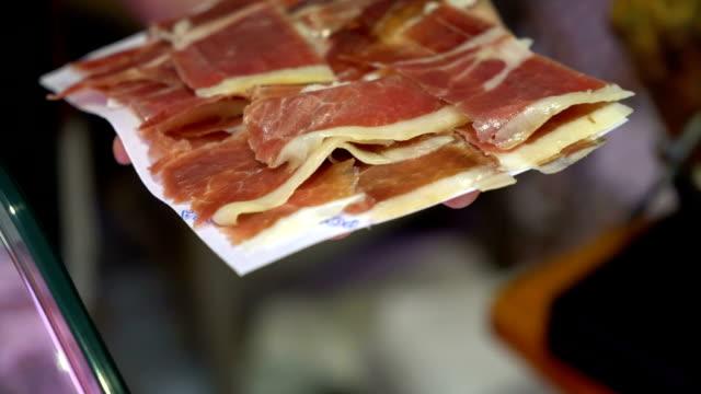 Sliced Iberian Ham video