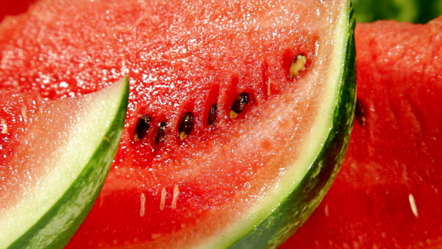 Slices of red watermelon video