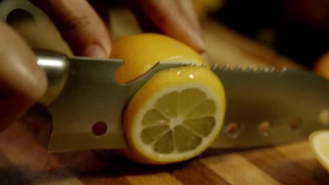 Slicing a lemon video