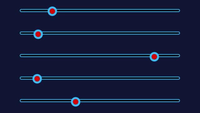 slider mixer console. abstract animation - balance video stock e b–roll