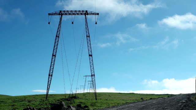 Sliding across power lines on a tundra field, Kamchatka video
