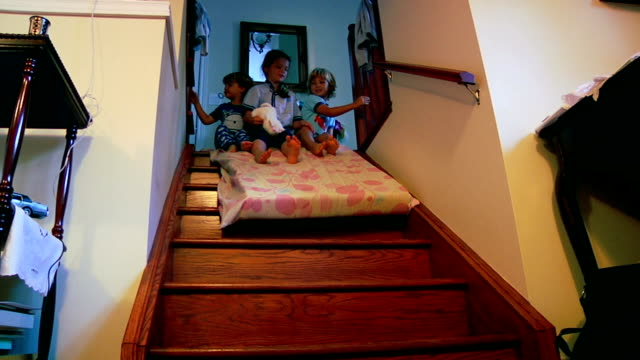 Sliding Down Stairs video