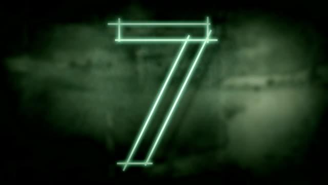 Sliding grunge countdown. video