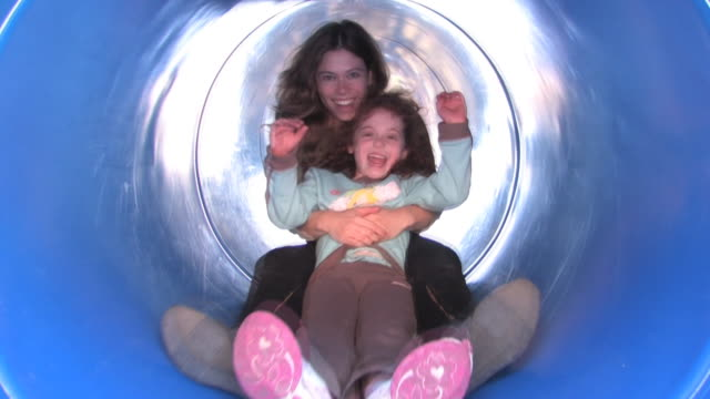 sliding mom and daughter video