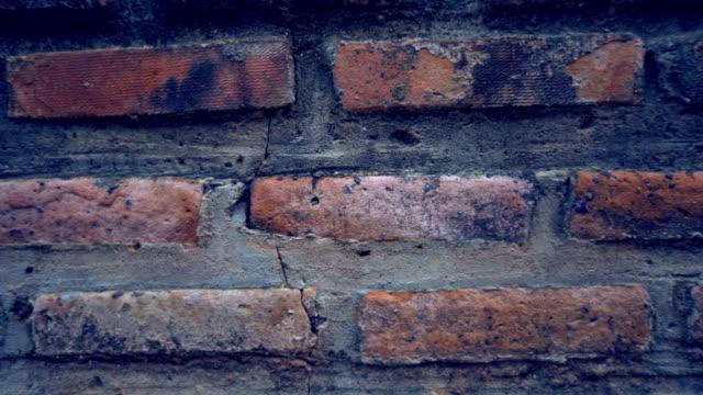 Sliding motion of brick wall background
