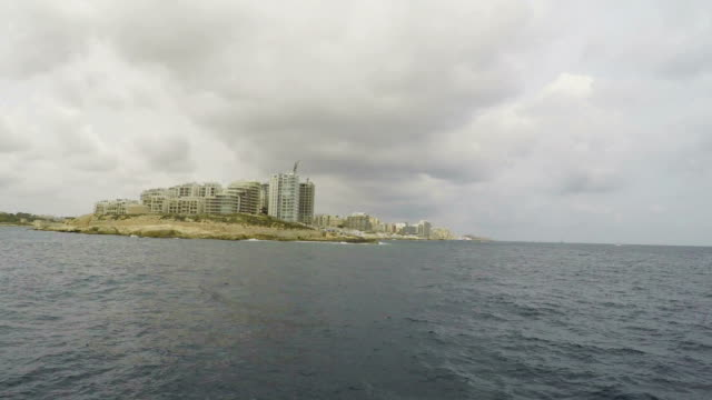 Sliema, Mediterranean Sea, Malta, Real Time video