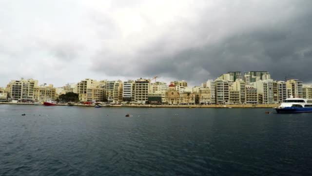Sliema, Promenade, Mediterranean Sea, Republic of Malta, Real Time video
