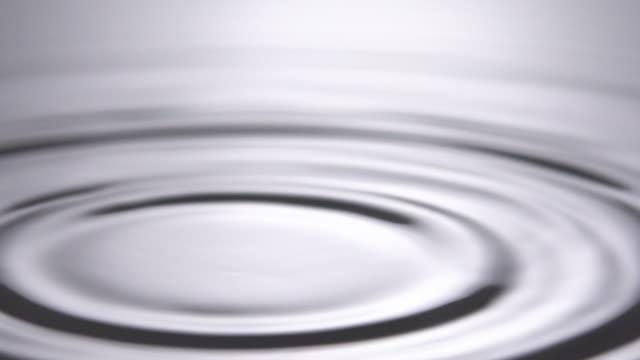 vídeos de stock e filmes b-roll de slo mo of water droplet on white water. - ondulado descrição física