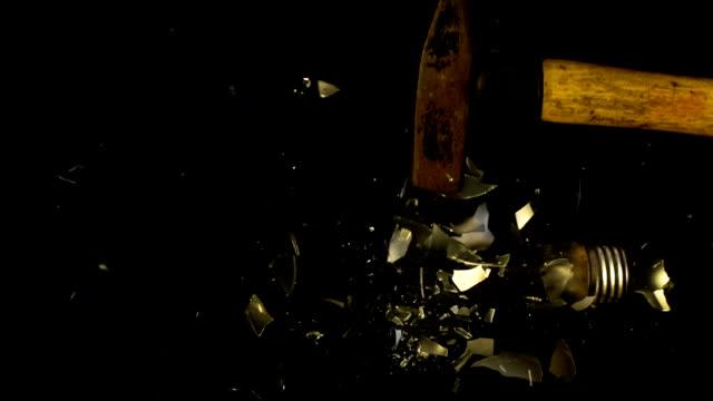 Slomo Breaking lamp video