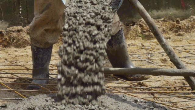 Slomo Pouring Concrete. video