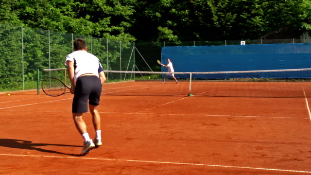 HD Slo-Mo: Profeesional Tennis Players During the Match video