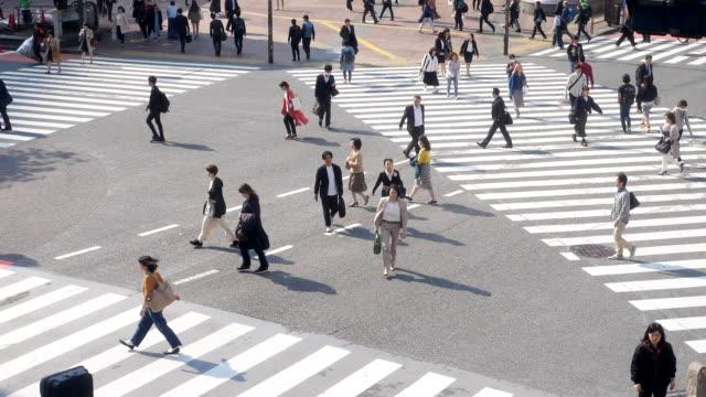 stockvideo's en b-roll-footage met slo-mo:crowd mensen shibuya - oversteekplaats
