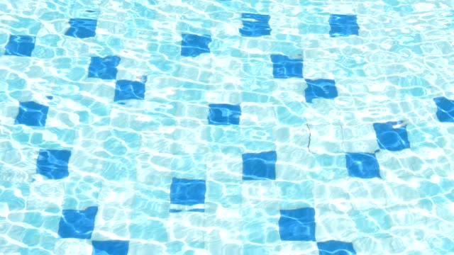 SLO-MO:Crystal water in the pool video