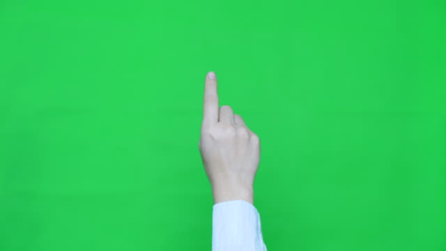 SLO-MO:One touch,Hand with Green screen video