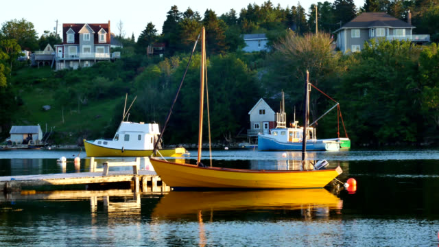 Sloop in St Margaret's Bay, Canada video