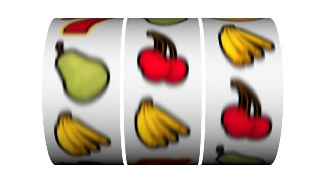 vidéos et rushes de machine à sous-gagnant cherries-expression anglo-saxonne - bonne chance