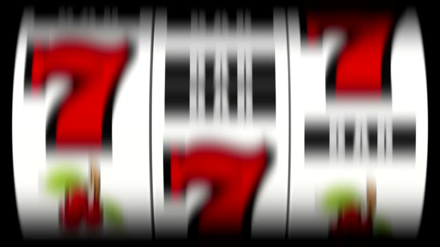 Slot machine jackpot 3D animation of a slot machine hitting a lucky 7s jackpot chance stock videos & royalty-free footage