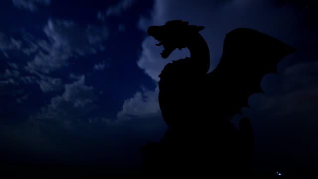 Slovenia Dragon bridge and monument storm video