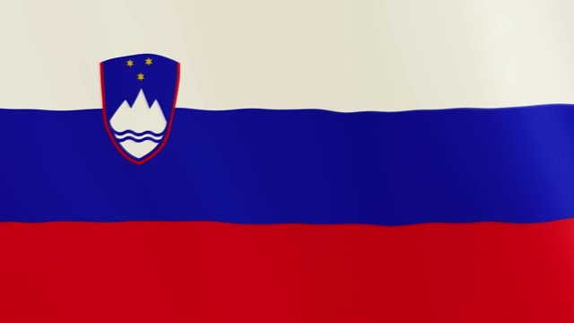 Slovenia flag waving animation. Full Screen. Symbol of the country video