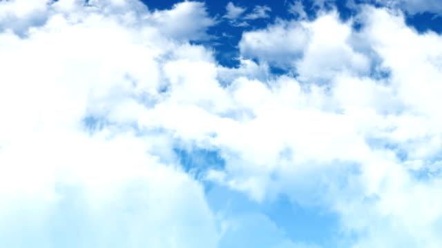 Slow Flight Through Sky Clouds video