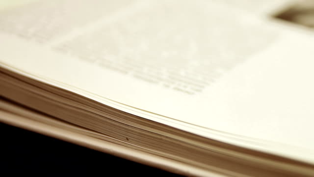 Slow Flipping Book Pages video