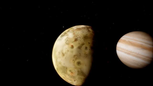 poprzez udzielaną księżyc ekspozycja z planeta jowisz tranzytu - io księżyc filmów i materiałów b-roll
