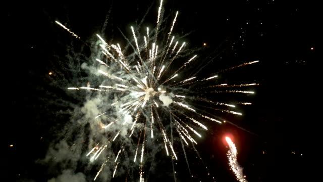 slow motion 4k grand finale fireworks show pt 2 of 2 - four seasons filmów i materiałów b-roll