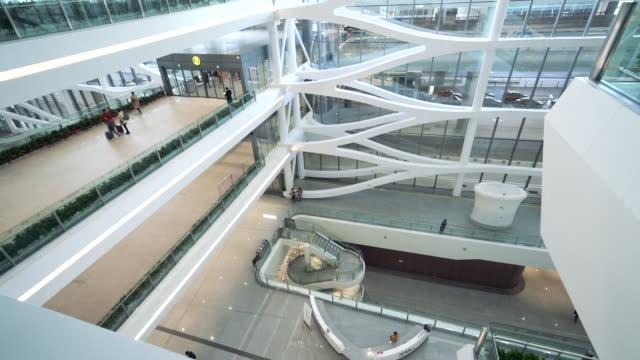 スローモーション - 北京大興新国際空港の建築 ビデオ