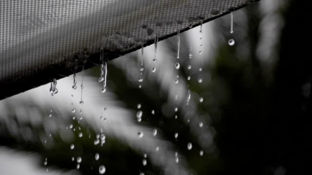 スローモーションで撮影の雨には、水のガラス天井 - 素材点の映像素材/bロール