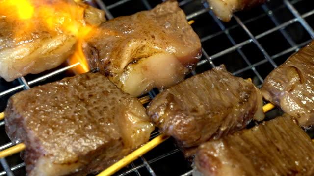 Slow motion: Beef BBQ yakiniku video