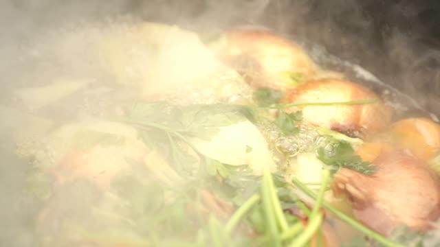 Slow Motion Boiling Vegetables video
