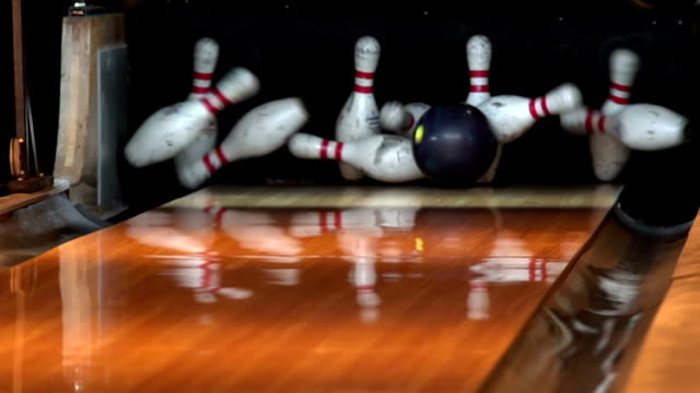Slow motion - Bowling strike video