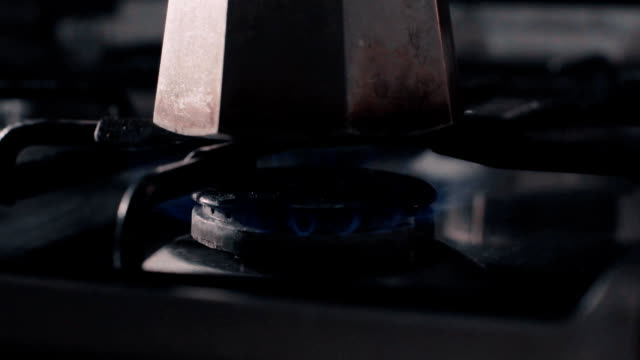 Slow motion clip of a stove burner video