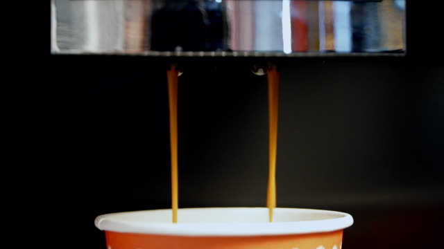 Slow Motion coffee pour video
