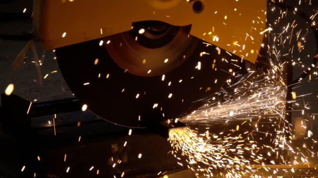 Slow motion Cutting steel Video Slow motion Cutting steel pipe connector stock videos & royalty-free footage