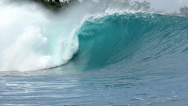 Slow Motion Empty Ocean Wave video