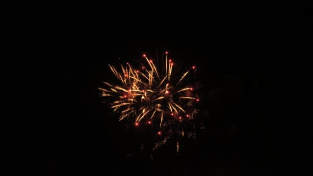 Slow motion fireworks show video
