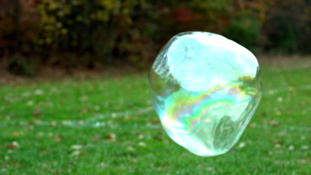 slow motion floating bubble video