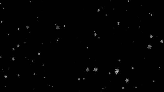 slow motion sanfter weihnachtsmorgenschnee - nahtlose schleife - schneeflocken stock-videos und b-roll-filmmaterial