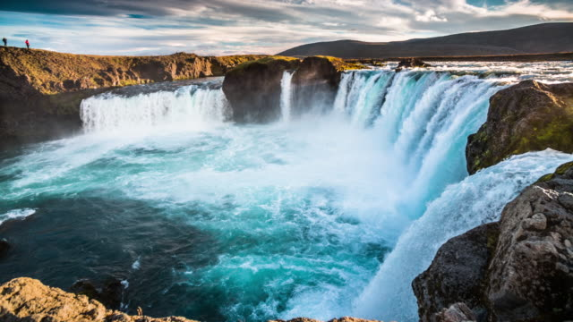 Slow Motion Godafoss Waterfall - Iceland video