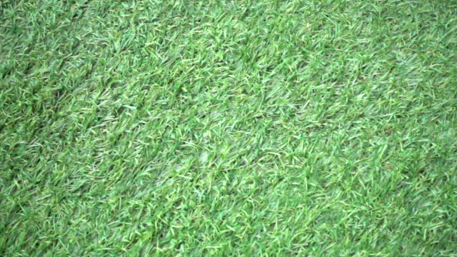 Slow motion Green artificial turf video
